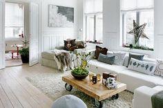 Kaunis olohuone.