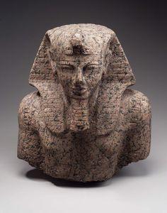 Granite bust of Ramesses III. New Kingdom. 20th dynasty. Reign of Ramesses III. 1187–1156 B.C.   Museum of Fine Arts, Boston