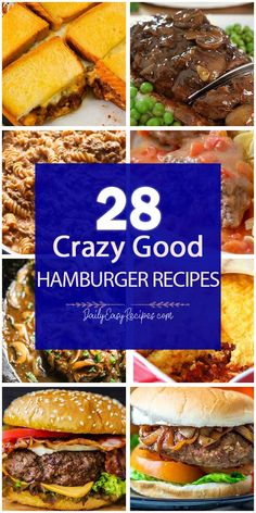 28 Best Delicious Hamburger Recipes That You Will Knock Your Socks Off – Yummy – Best Ideas for Dinner Best Hamburger Recipes, Ground Beef Recipes, Entree Recipes, Cooking Recipes, Healthy Recipes, Shrimp Recipes, Meat Recipes, Recipies, Hot Dogs