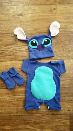 Handmade Stitch Costume by BlossomandBloomKids blossomandbloom. Lilo And Stitch Costume Kids, Lelo And Stitch Costumes, Lilo And Stick Costume, Stitch Baby Costume, Stitch Halloween Costume, Family Halloween Costumes, Halloween Outfits, Lilo Costume, Diy Baby Costumes