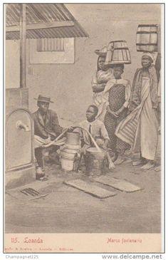 Collecting water in Loanda, 1904 -delcampe.net