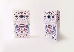 Monsters card by Agnes Herr, via Behance