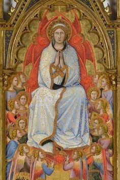 Andrea Di Bartolo. L'Assunzione della Vergine con San Tommaso e due donatori (ser Palamede e il figlio Matteo), 1395, olio su tavola Virginia Museum of Fine Arts, Richmond