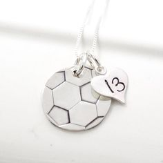 Whether you are a soccer star or only a fan-atic, this hand stamped soccer ball … – World Soccer News Soccer Necklace, Ball Necklace, Warm Up Stretches, Train Activities, Soccer Gifts, Soccer News, Soccer Quotes, Soccer Stars, Soccer Training