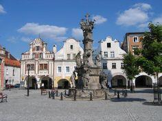 zabytkowe kamieniczki miejskie w Polsce | Rynek w Lewinie Kłodzkim