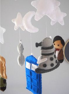 Dr. Who Mobile - Baby Crib Mobile - Tardis - Doctor Who