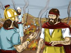 When King Ahaziah seeks guidance from a false god, God sends Elijah to intervene. (II Kings 1:1-18) Free visuals!