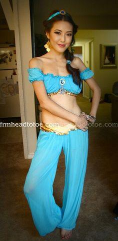 Disney Princess Jasmine Halloween Tutorial | Halloween | Pinterest | Disney princess jasmine Jasmine and Princess  sc 1 st  Pinterest & Disney Princess Jasmine Halloween Tutorial | Halloween | Pinterest ...
