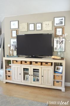 TV Gallery Wall; How to Decorate Around a TV | A Shade Of Teal                                                                                                                                                                                 More