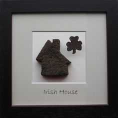 Irish House is hand crafted in Ireland with real Irish Bog! A great gift for for any Irish home! Proud to be Irish from BogBuddies! St Patricks Day, Saint Patricks, Frame Sizes, Where The Heart Is, Irish, Great Gifts, Holiday, Handmade, Crafts