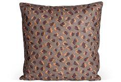 Pillow in Feline Kelly Wearstler fabric for Lee Jofa.  OneKingsLane.com