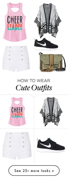 """""""Cute Summer Outfit"""" by lsantana13 on Polyvore featuring LE3NO, Pierre Balmain, L'Autre Chose and NIKE"""