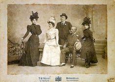 Barão do Rio Branco, sua filha Hortênsia e grupo de amigos, 1898.