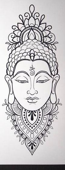 Buddha Tattoo Design, Buddha Tattoos, Mandala Tattoo Design, Tattoo Design Drawings, Art Drawings, Mayan Symbols, Viking Symbols, Egyptian Symbols, Viking Runes