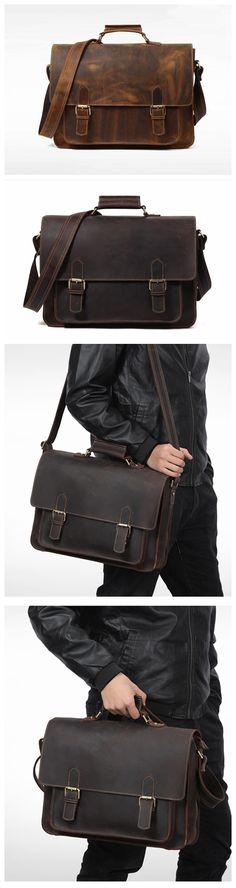 Xmas Gift, Full Grain Leather Briefcase, Handmade Leather Business Bag, Laptop Bag,Men's Bag QT004 Teen Backpacks, Leather Backpacks, School Backpacks, Leather School Bag, Messenger Bag Backpack, Leather Shoulder Bag, Shoulder Bags, Backpack For Teens, Work Bags