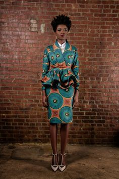 Demesticks  NY African print , ciaafrique ,african fashion, african dress styles,kitenge designs , african styles, african sty...