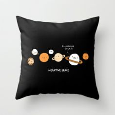 Negative Space Throw Pillow by gemma correll - $20.00