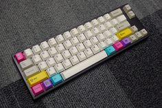 FC660M with Cherry MX Brown switches  enjoyPBT CMYK dyesub modifiers  enjoyPBT purple dyesub keyset