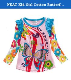 NEAT Kid Girl Cotton Butterfly Long Sleeve T Shirt Tee Pink L3916 5-6 Years. NEAT kids clothing is dirctly sell from factory. We focus to children health, using natural fabrics, the perfect combination of fashion and comfortable. Brand Name: NEAT Style: Fashion Material: Cotton Notice: If you want kids wear longger time, you can order 1 size bigger Size: 18-24 months=86-92cm 2-3 years=92cm-98cm 3-4 years=98cm-104cm 4-5 years=104cm-110cm 5-6 years=110cm-116cm.