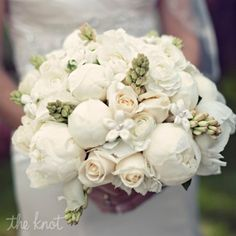 Beautiful Bridal Bouquets Ivory Peony Bouquet – The Knot