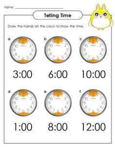 Help your little learner practice the important skill of telling time with this free worksheet! #analogclock #freeworksheets #tellingtime #tellingtimepractice