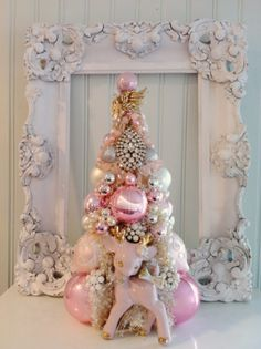 The Pink Vintage Pixie Forest: So Much To be Grateful For. Pink Christmas Decorations, Pink Christmas Tree, Shabby Chic Christmas, Nutcracker Christmas, Christmas Tree Themes, Christmas Mantels, Victorian Christmas, Vintage Christmas Ornaments, Vintage Holiday