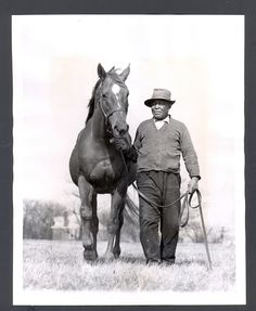 Man O War  and longtime groom Will Harbut THE VAULT: Horse racing past and present