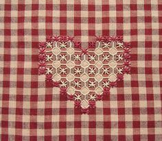 Gingham Embroidery or Chicken Scratch Project; I used to do this years ago. - Gingham Embroidery or Chicken Scratch Project; I used to do this years ago…. Embroidery Hearts, Vintage Embroidery, Ribbon Embroidery, Cross Stitch Embroidery, Embroidery Patterns, Chicken Scratch Patterns, Chicken Scratch Embroidery, Bordado Tipo Chicken Scratch, Pattern Pictures