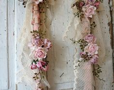Ornate picture frame wall hanging shabby cottage chic