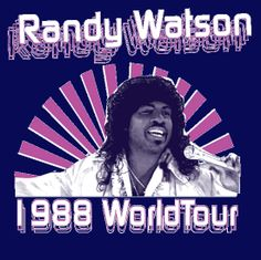 """""""Randy Watson 1988 World Tour"""" Sexual Chocolate Funny Coming to America movie T-shirt from DonkeyTees.com"""