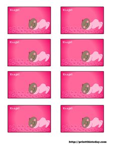 free baby shower labels to download