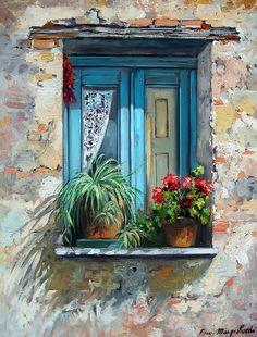 Les fenêtres de la peinture 43 peintures avec un sens profond - Juste Masters - faits à la main, fait main