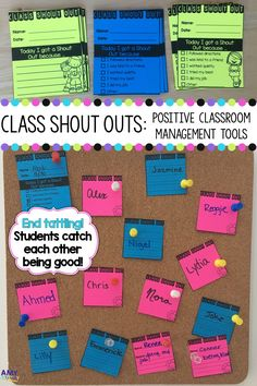 Class Shout Outs are a classroom management tool used to help to end tattling! Students give each other Class Shout Outs instead of tattling on each other. Students tell the teacher when they catch each other being good. It can work for kindergarten - 5 4th Grade Classroom, Classroom Activities, Classroom Organization, Classroom Ideas, Future Classroom, Classroom Behavior Management, Behaviour Management Strategies, Class Management, Teaching Social Skills