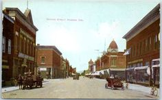 Pomona, California Postcard SECOND STREET Scene Benham Indian Trading Co. 1908