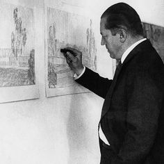 Ludwig Mies van der Rohe working at Haus Esters, Krefeld, Germany. (about 1927/28)  German-American architect  via facebook.com