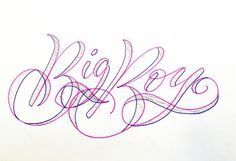 Big Boy - Handmade lettering for 365Mistakes project - Antonin Boiveau - Tombows