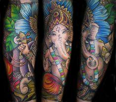 Ganesh, tattoo by Hayley Hayes