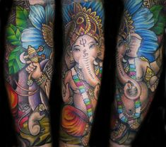Ganesh, tattoo by Hayley Hayes