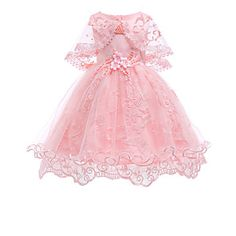 Kids / Toddler Girls' Vintage / Basic Party / Holiday Solid Colored Lace Sleeveless Knee-length Cotton / Polyester Dress Red Source by Wedding Bridesmaid Flowers, Wedding Dresses With Flowers, Flower Dresses, Baby Wedding, Bridesmaid Dresses, Girls Dresses Online, Party Dresses Online, Cheap Party Dresses, Summer Dresses