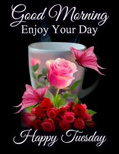 Good Morning Tuesday Images, Happy Tuesday Pictures, Happy Tuesday Morning, Good Morning Friends Images, Happy Good Morning Quotes, Happy Tuesday Quotes, Good Morning Love Messages, Good Morning Images Flowers, Good Morning Picture