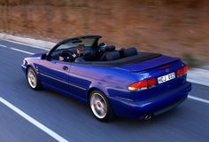 Saab 9-3 Convertible, Lightning Blue
