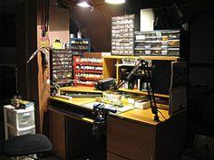 Show us your Workbench - Model Railroader Magazine Hobby Desk, Hobby Cnc, Hobby Room, Hobby Shops Near Me, Hobby Lobby Christmas, Shop Work Bench, Hobby Trains, Leather Workshop, Hobby Photography