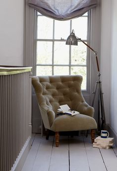 Sark armchair in cotton matt velvet 'Smoke' £595  http://www.sofa.com/shop/sofas/armchairs/sark-armchair/#110-CMVSMO-0-0