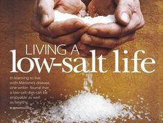 Low Salt Recipes for Meniere's Disease Sufferers