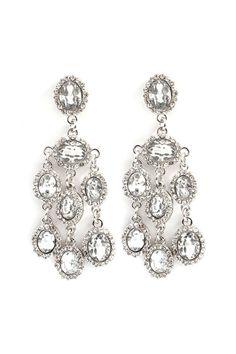 Danika Chandelier Earrings in Silver on Emma Stine Limited