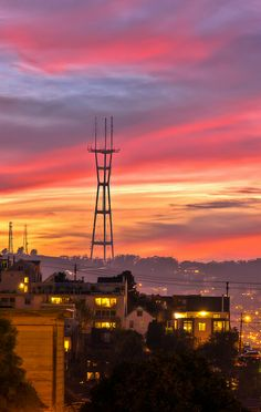 Sutro Tower - San Francisco Twin Peaks  California which Grandpa, as a rigger in construction, helped build.