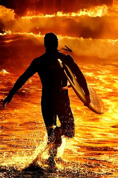 Fire Sunset Surf