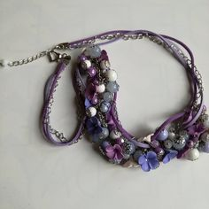 Items similar to Handmade White/Lavender Necklace on Etsy Lavender, Trending Outfits, Unique Jewelry, Handmade Gifts, Crafts, Diy, Vintage, Kid Craft Gifts, Manualidades