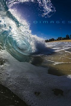 Wave off the beach in Perth, Australia