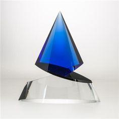 Vlastislav Janáček-Knight I - Art Glass Chess Piece - Blue-JAN-KNI